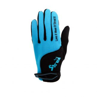 Child Full Finger Trail Glove Blue