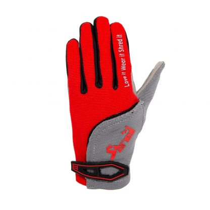 Child Full Finger Trail Glove Red