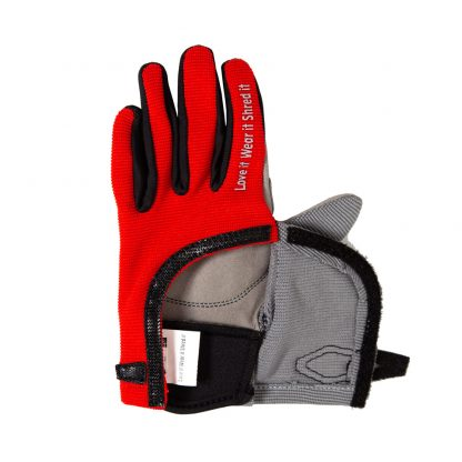 Child Full finger trail glove red wide opening