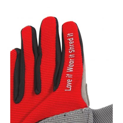 Child Full finger trail glove red finger text